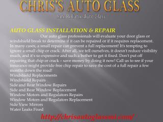 Auto Glass Detroit MI, Chip Repair Detroit MI, Windshield Re