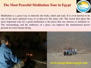 The Most Peaceful Meditation Tour in Egypt