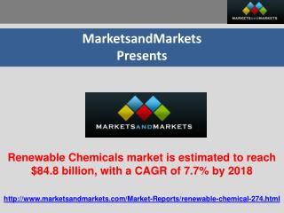 Renewable Chemicals market is estimated to reach $84.8 billi