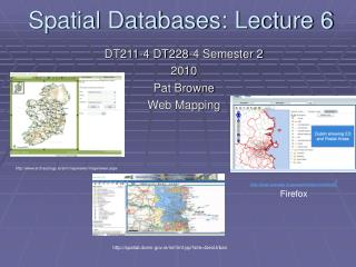 Spatial Databases: Lecture 6