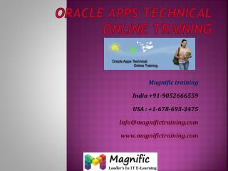 oracle apps technical online training hyderbad