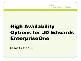 High Availability Options for JD Edwards EnterpriseOne