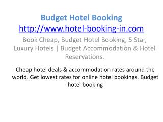 Budget hotel booking cheap discount hotels book