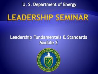 U. S. Department of Energy