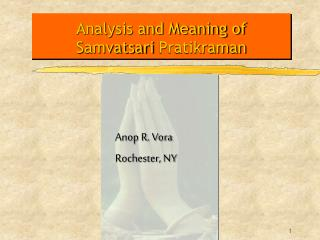 Analysis and Meaning of Samvatsari Pratikraman