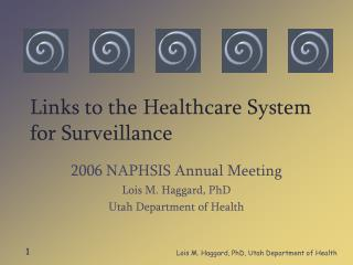 Links to the Healthcare System for Surveillance