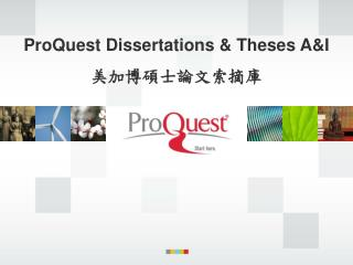 ProQuest Dissertations & Theses A&I 美加博碩士論文索摘庫