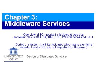 Chapter 3: Middleware Services