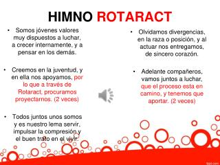 HIMNO  ROTARACT
