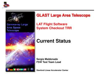 GLAST Large Area Telescope LAT Flight Software  System Checkout TRR Current Status