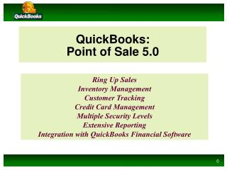 QuickBooks: Point of Sale 5.0