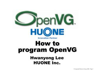 How to  program OpenVG