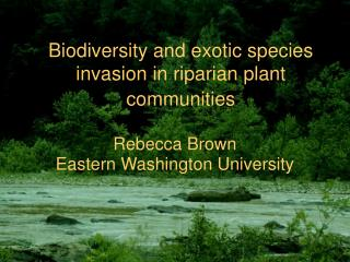 Biodiversity and exotic species invasion in riparian plant communities