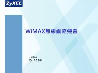 W iMAX 無線網路建置