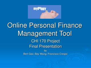 Online Personal Finance Management Tool