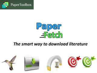 The smart way to download literature