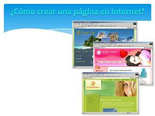 ¿Cómo crear una página en Internet?