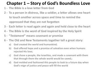 Chapter 1 – Story of God's Boundless Love