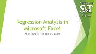 Data  Analysis  and Statistics in the Lab