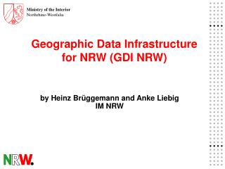 Geographic Data Infrastructure  for NRW (GDI NRW)
