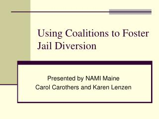 Using Coalitions to Foster Jail Diversion