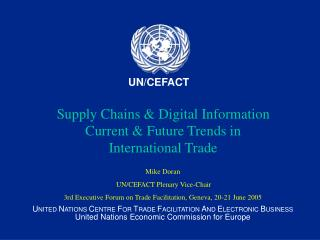 Supply Chains & Digital Information Current & Future Trends in International Trade