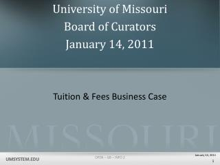 Tuition & Fees Business Case