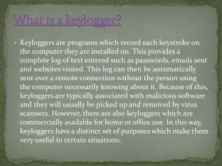 Why Keylogger?