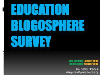 Education blogosphere survey