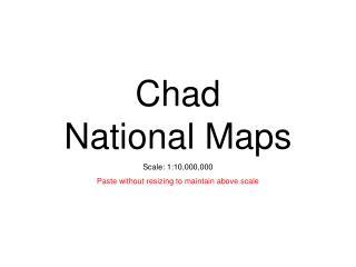 Chad National Maps