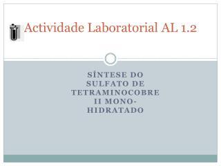 Actividade Laboratorial AL 1.2