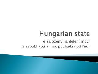Hungarian state