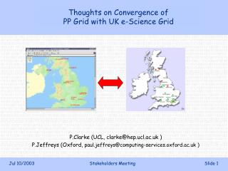 Thoughts on Convergence of PP Grid with UK e-Science Grid