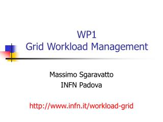 WP1 Grid Workload Management