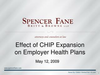 Effect of CHIP Expansion on Employer Health Plans