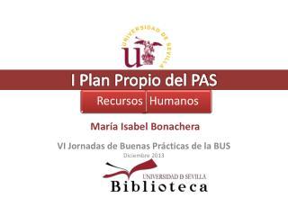 I Plan Propio del PAS