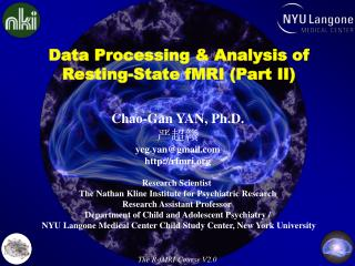 Data Processing & Analysis of  Resting-State fMRI ( Part II)