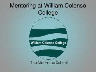 Mentoring at William Colenso College