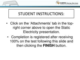 STUDENT INSTRUCTIONS: