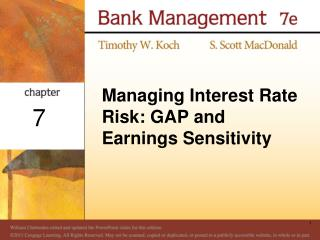 Managing Interest Rate Risk: GAP and Earnings Sensitivity