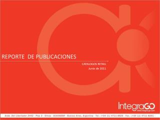 CATALOGOS RETAIL Junio de 2011