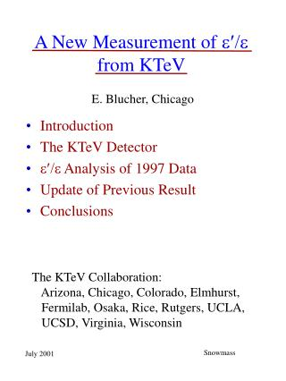 A New Measurement of  from KTeV