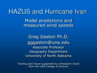 HAZUS and Hurricane Ivan