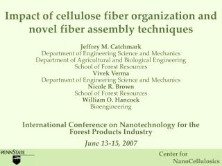 Impact of cellulose fiber organization and novel fiber assembly techniques