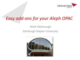 Easy add-ons for your Aleph OPAC