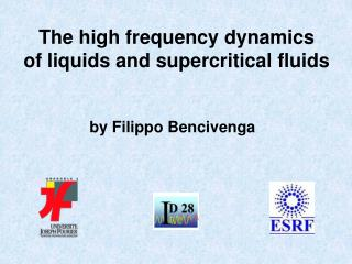 The high frequency dynamics of liquids and supercritical fluids
