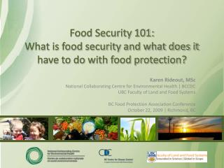 Food Security 101: What is food security and what does it have to do with food protection?