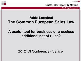 2012 IDI Conference - Venice