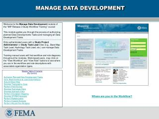 MANAGE DATA DEVELOPMENT