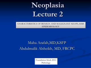 Neoplasia Lecture 2